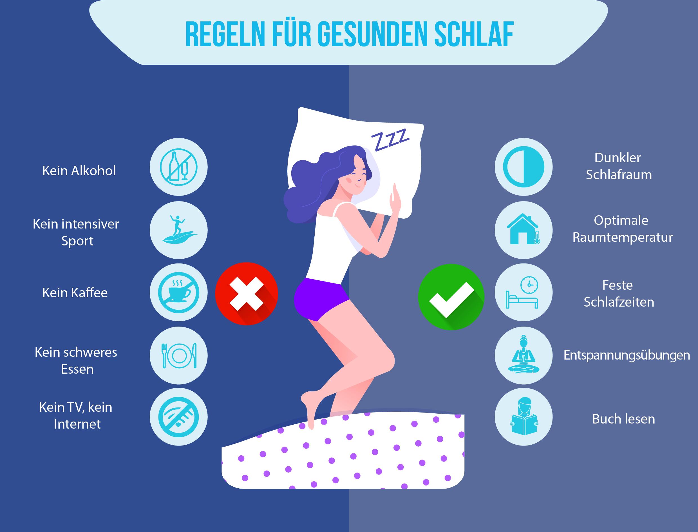 Gesunder Schlaf - Tipps